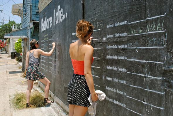 "3 Street Art Before i Die Candy Chang - Street Art ""Before i Die"" Wall par Candy Chang : Le Mur de l'Espoir"