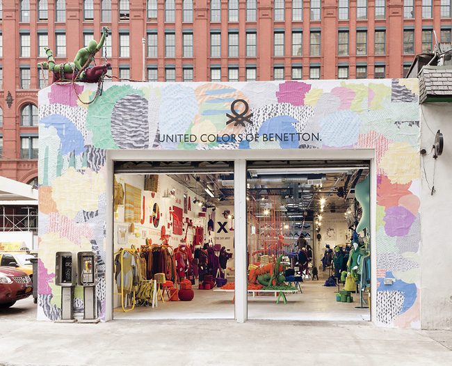 , United Colors of Benetton : Art et Pop-Up Store à NYC