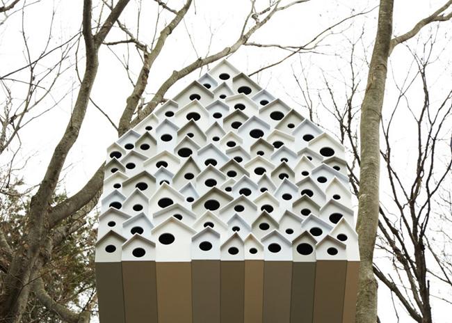 , Bird Apartment Treehouse par Nendo Design : Cabane Nid dans les Arbres