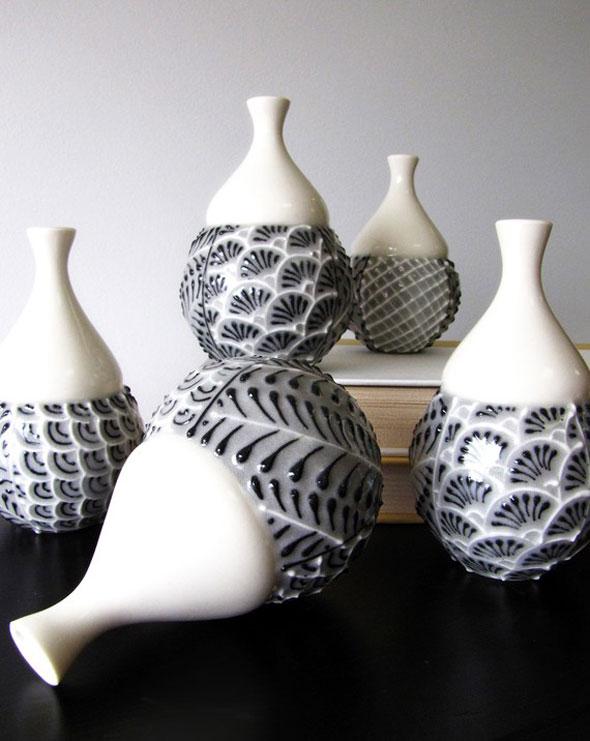 , Vases Faits Main en Céramique par Cynthia Vardhan