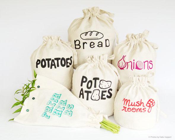 , Harvest Harversacks: Sacs EcoTrendy pour Fruits et Légumes