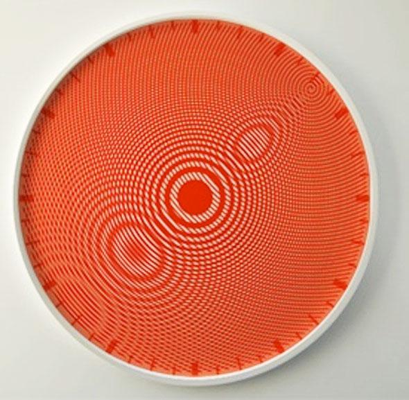 , Moirée Clock par Jana Ferreira : Horloge aux Aiguilles Abstraites