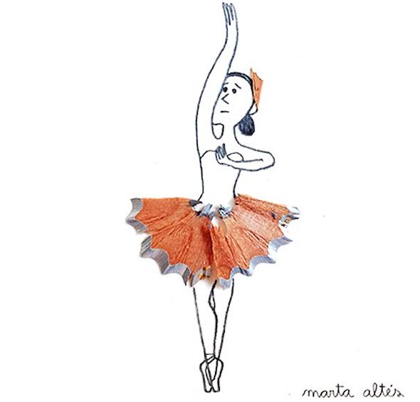 , Illustrations Poetiques aux Copeaux de Crayons par Marta Altés