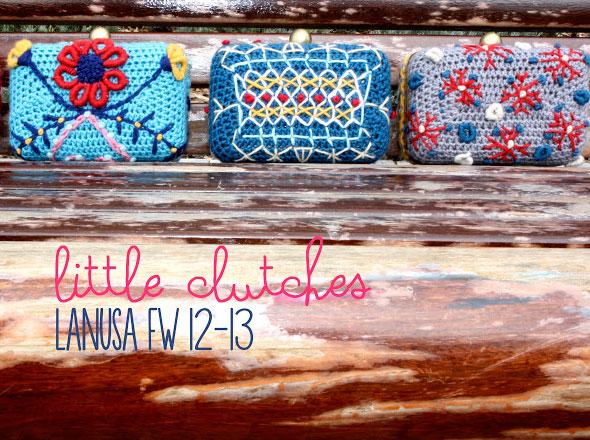 Lanusa Adorables Pochettes Florales en Crochet