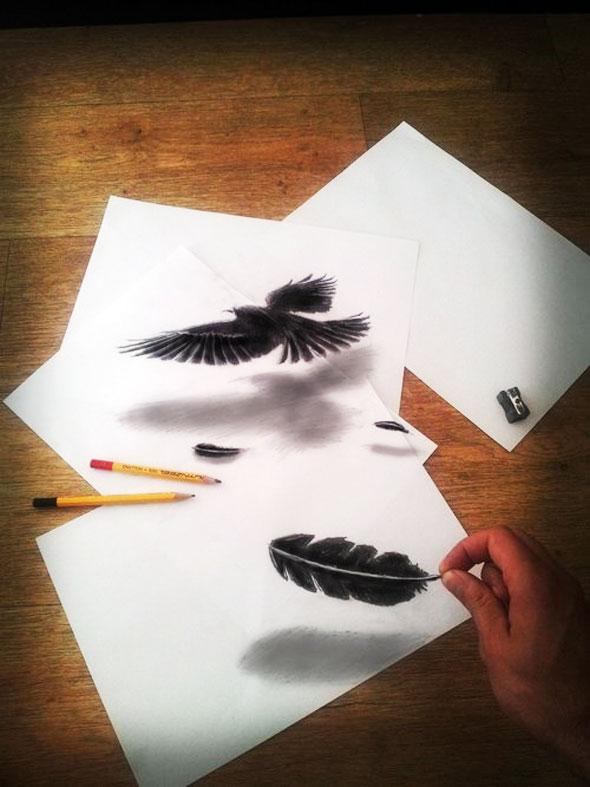 1 Ramon Bruin 3D Dessin Drawing Art - Ramon Bruin : Dessins au Crayon en 3D Hyper Réalistes