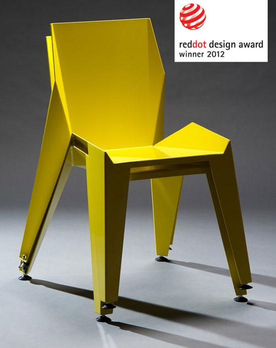 , Novague Edge Chair : Chaise Origami en Aluminium