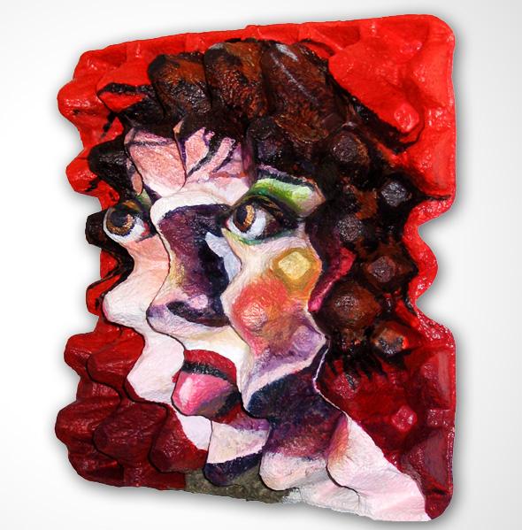 3 Art EggCubism Enno De Kroon - EggCubism, la Peinture Cubiste sur Emballages pour Oeufs