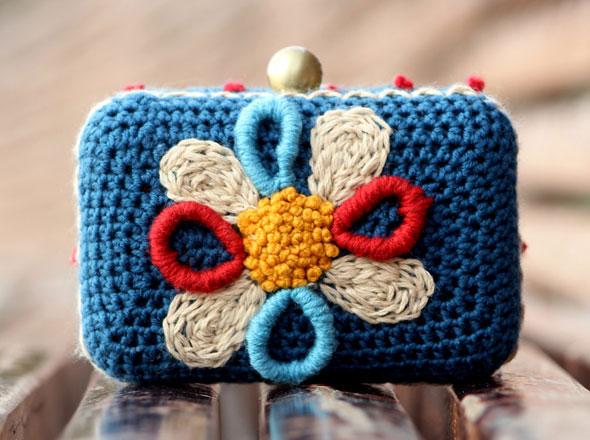 3 Lanusa Pochettes Crochet Lanusa : Adorables Pochettes en Crochet et en Fleur