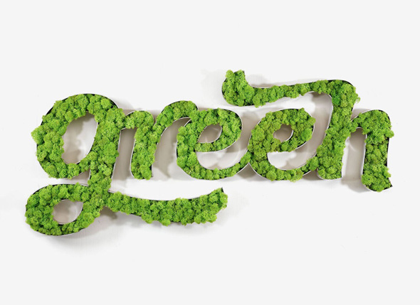 , Vegetal Identity par 4uatre : Jardinières Typographiques