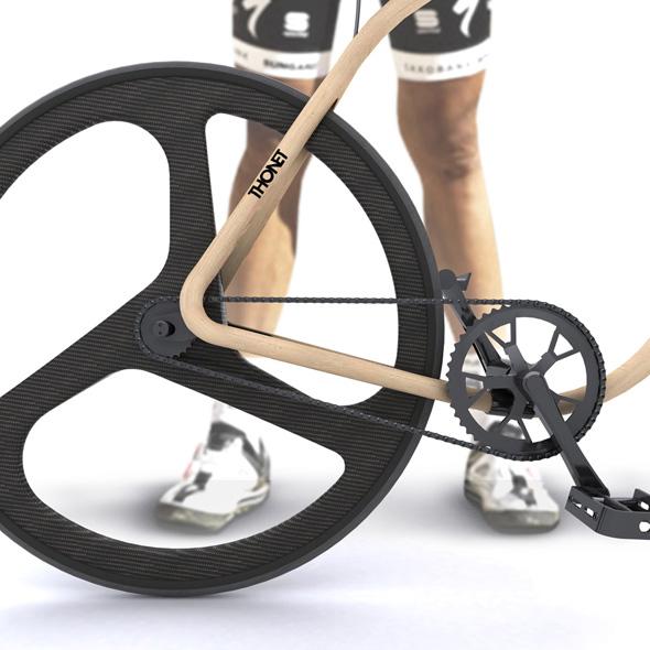 , Thonet Bike par Andy Martin : Vélo Design en Bois et Fibre de Carbone