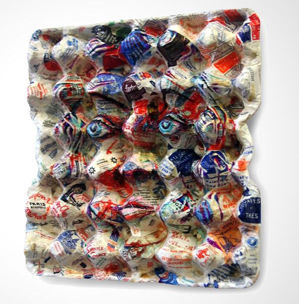 Super EggCubism par Enno De Kroon : Peinture Cubiste sur Emballages pour  BH42