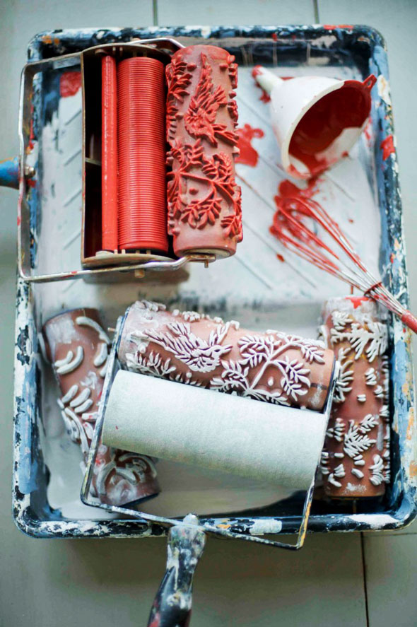 Superb Rouleau De Peinture Decorative #5: The Painted House   Rouleaux à  Peinture Avec Motifs Déco Belles Idees