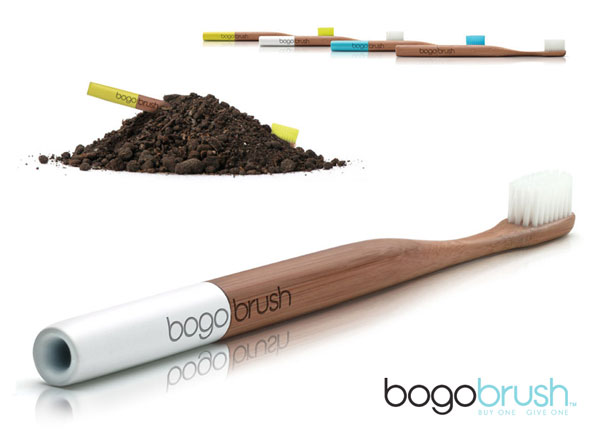 1 BogoBrush Brosse Dents Biodegradable Bambou BogoBrush : Brosse à Dents Biodégradable en Bambou
