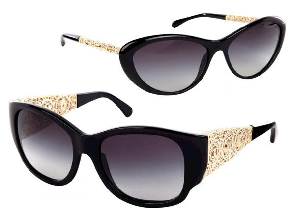 c076bb1bb7 1 Lunette Soleil Sunglasses Chanel Bijou - Collection Chanel Bijou :  Lunettes de Soleil en Dentelle