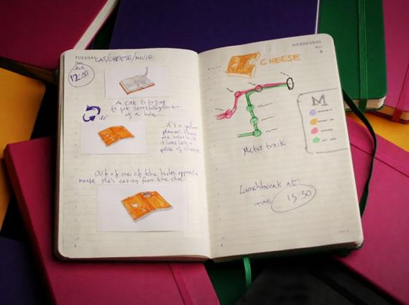 , Moleskine Notebooks par Rogier Wieland : Carnets Creatifs Animés (video)