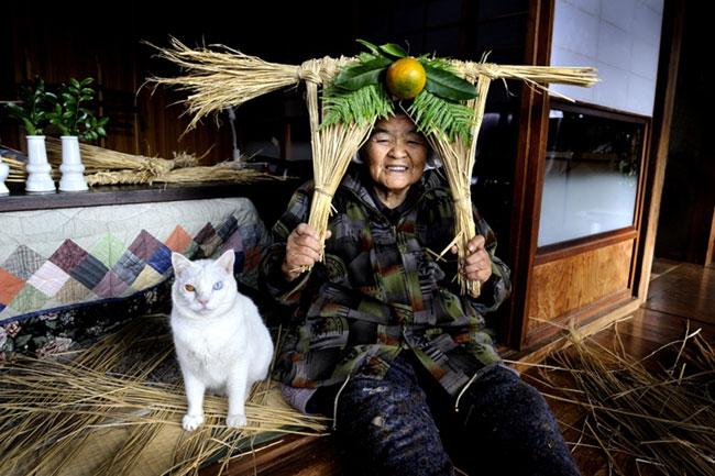 14 Chat Fukumaru et Misao la Grand Mere Fukumaru le Chat et Misao la Grand Mere des Amis pour la Vie