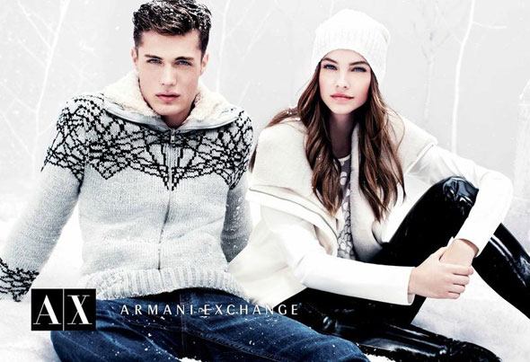 2 AX Armani Exchange FW Hiver 2012 2013 Campagne AX Armani Exchange Hiver 2012 2013