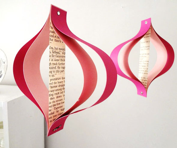 2 Bookity Decoration Mobile Papier - Bookity Décorations : Mobiles en Papier