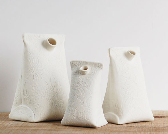 Wapa : Vases Sculptures en Porcelaine Faits Main