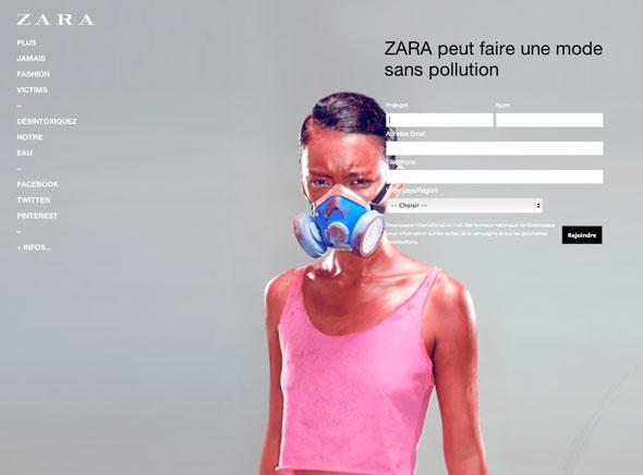 3 Greenpeace Zara Greenpeace contre Zara, C&A, Mango, Levis, M&S : Cette Mode qui Empoisonne la Vie