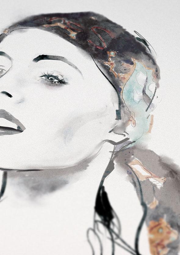 illustration mode girls aldous massie, Girls par Aldous Massie : Illustrations à la Mode Photographique