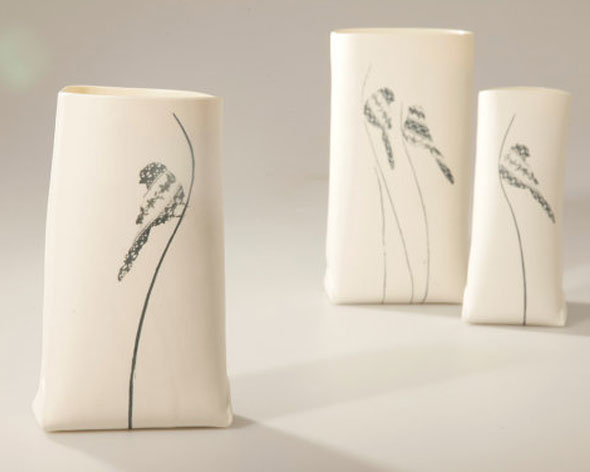 , Wapa : Vases Sculptures en Porcelaine Faits Main