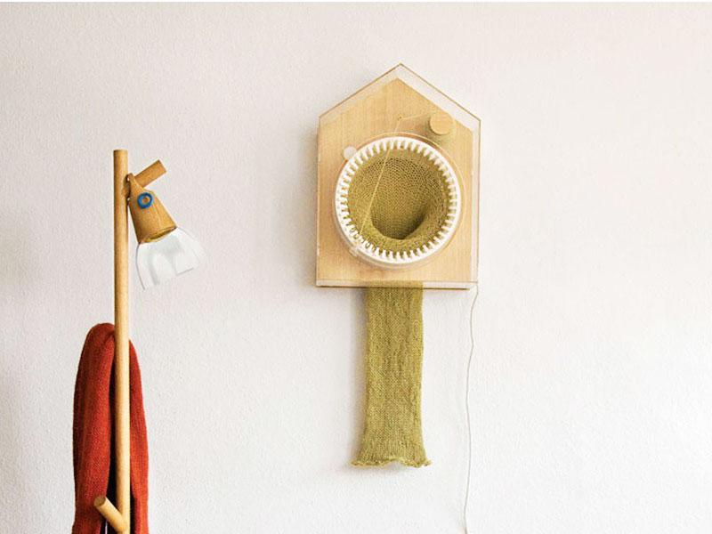 , 365 Knitting Clock, l'Horloge à Tricot par Siren Elise Wilhelmsen