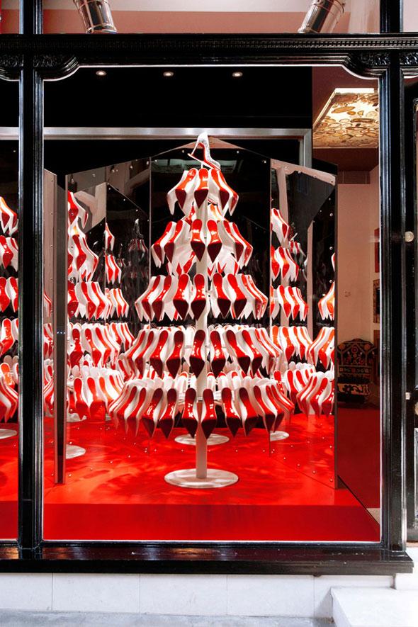 , Boutique Christian Louboutin : Chaussures Pigalle en Sapin de Noël