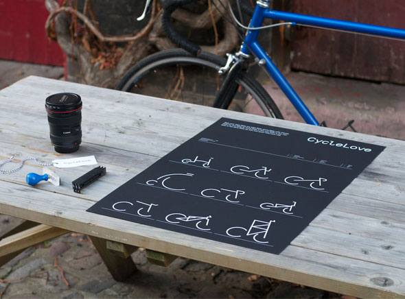 , CycleLove Just Ride : Poster et T-Shirt Iconiques pour le Vélo