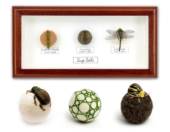 3 Claire Moynihan Insectes Broderie 3D Laine Claire Moynihan : Insectes Brodés en 3D avec de la Laine