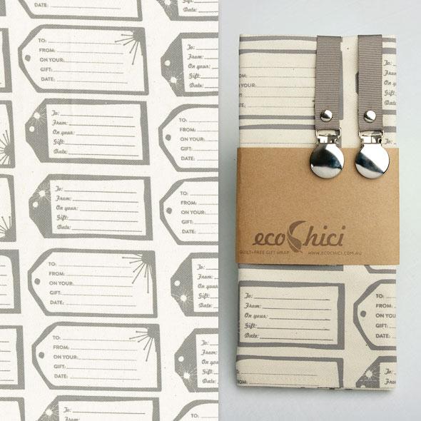 , Tissus Cadeaux EcoChici : Papier Cadeau Ecolo et Réutilisable