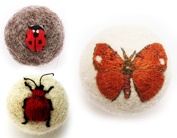 7 Claire Moynihan Insectes Broderie 3D Laine Claire Moynihan : Insectes Brodés en 3D avec de la Laine