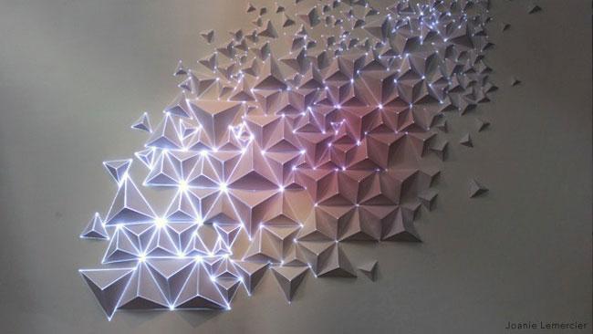 , Joanie Lemercier : Origami en 3D et Video Mapping Artistique