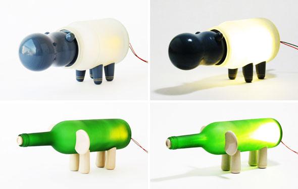 , Lampes Animal Farm par Nishi Chauhan : Animaux mis en Bouteille