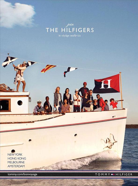 1 Tommy Hilfiger ete 2013 Pub Ad Campagne Tommy Hilfiger printemps Eté 2013 : Bon Voyage en Mer