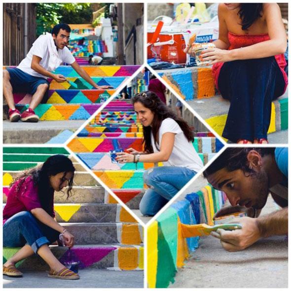 Street Art par Dihzahyners : Beyrouth et ses Escaliers en Couleurs