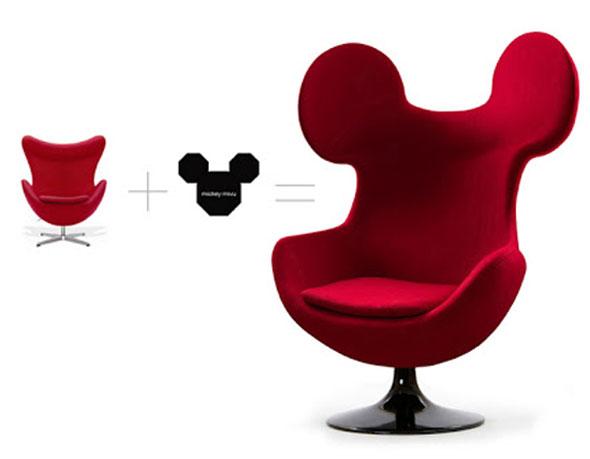 mickey egg chair par milos vujicic fauteuil darne jacobsen avec des oreilles - Fauteuil Mickey