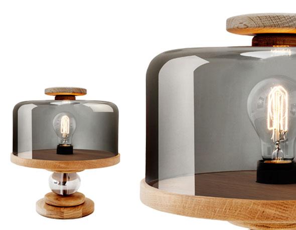 , Bake Me A Cake par Morten & Jonas : Lampe de Table en Cloche de Verre