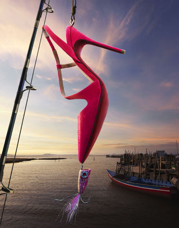 Campagne Christian Louboutin Eté 2013 par Peter Lippman : La Pêche Miraculeuse