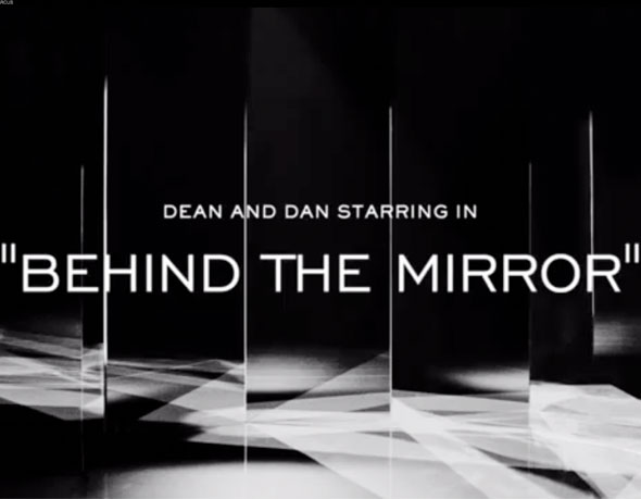 3 pub ad Dsquared2 behind mirror ss ete 2013 Dsquared2 Printemps Ete 2013 : Un Film Noir signé Mert & Marcus (video)