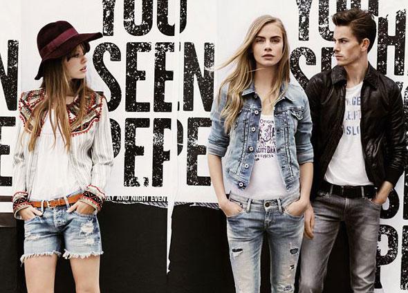 4 pepe jeans london ss ete 2013 Campagne Pepe Jeans London Printemps Ete 2013 avec Cara Delevingne