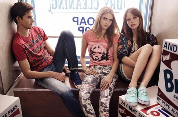 7 pepe jeans london ss ete 2013 Campagne Pepe Jeans London Printemps Ete 2013 avec Cara Delevingne