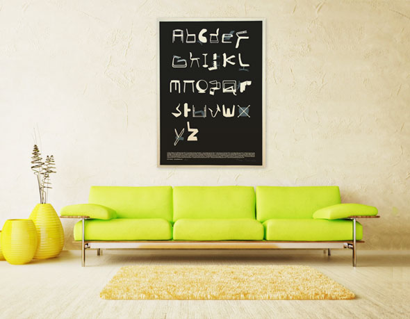 , Chair Alphabet par Tim Fishlock : Poster Déco de Fauteuils Design