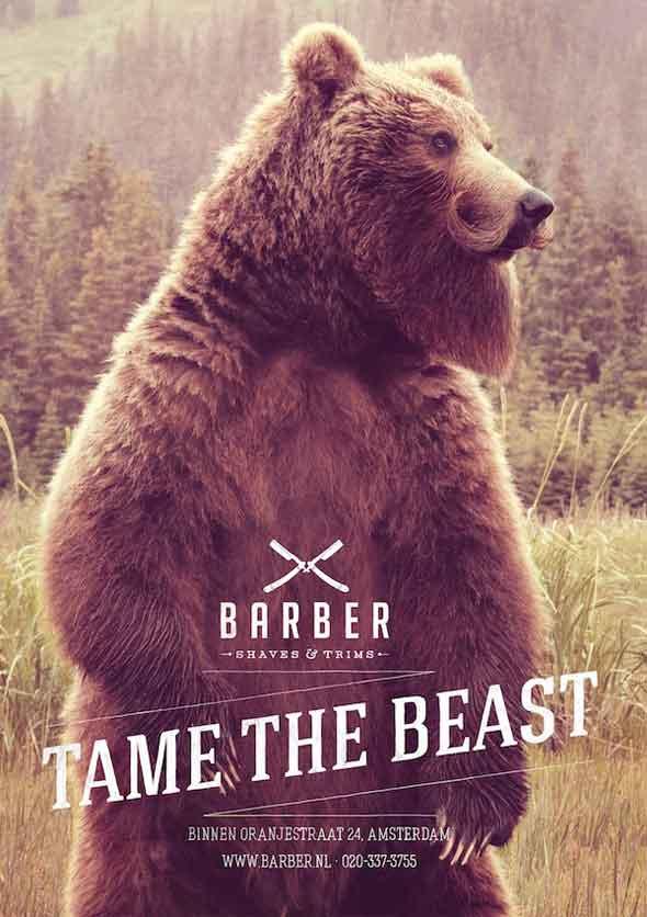 , Pub Barber Shaves & Trims : Animaux Sauvages à Moustaches