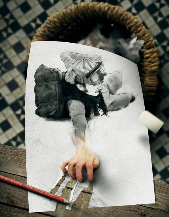 1 Tullius Heuer Photo montage Surrealiste - Tullius Heuer Photographie : Dessins et Photomontages Surréalistes