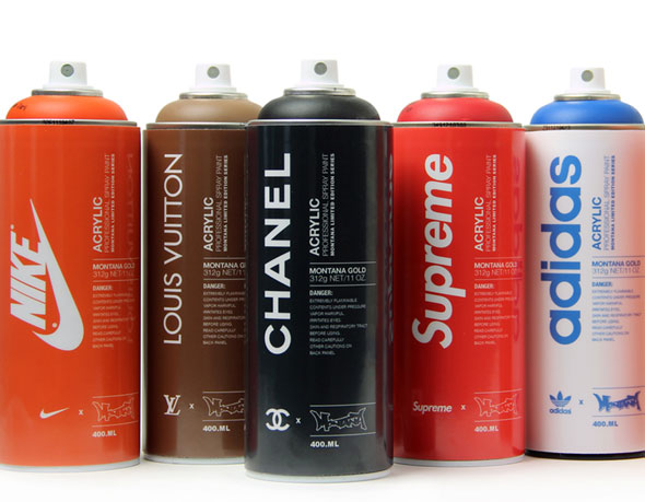 , Montana Can par Antonio Brasko : Bombes de Peinture Chanel, Louis Vuitton…