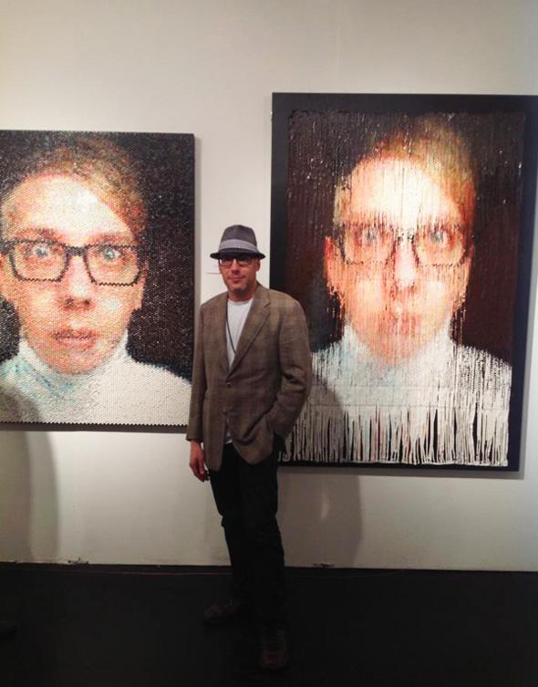, Injection Portraits par Bradley Hart : Peinture avec des Emballages Bulles