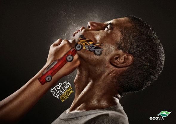 , Pub Terremoto Propaganda pour Ecovia : Stop à la Violence sur la Route