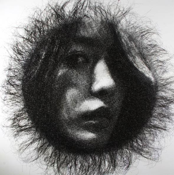 Seung Mo Park, Gigantesques Portraits Sculptés en Fil de Fer par Seung Mo Park