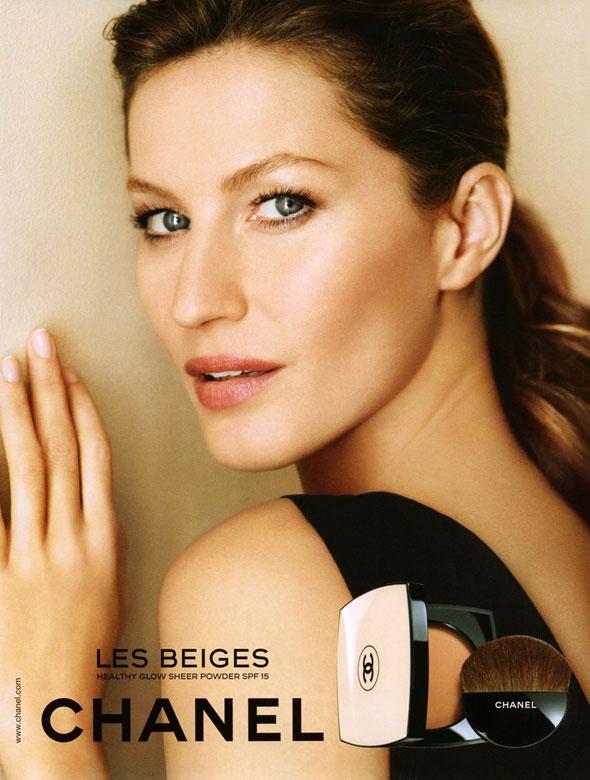 , Chanel Maquillage «Les Beiges» Printemps 2013 avec Gisele Bundchen